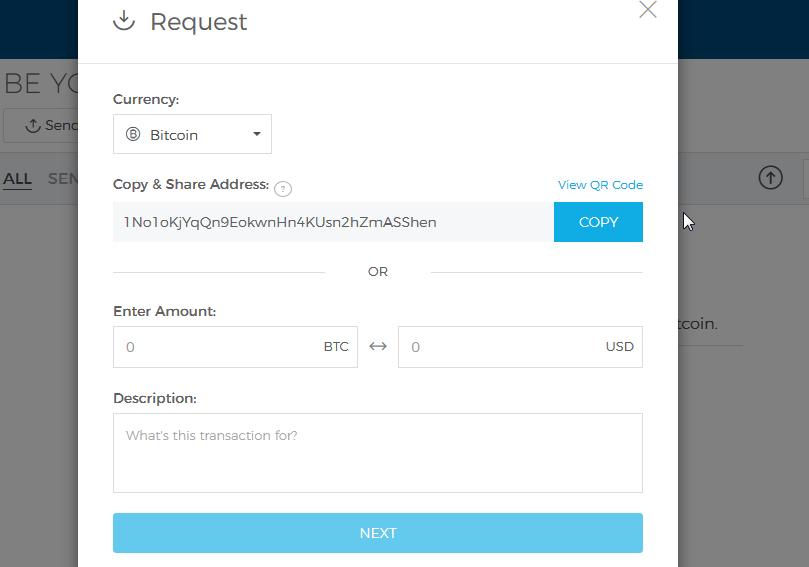آدرس بیت کوین برای دریافت