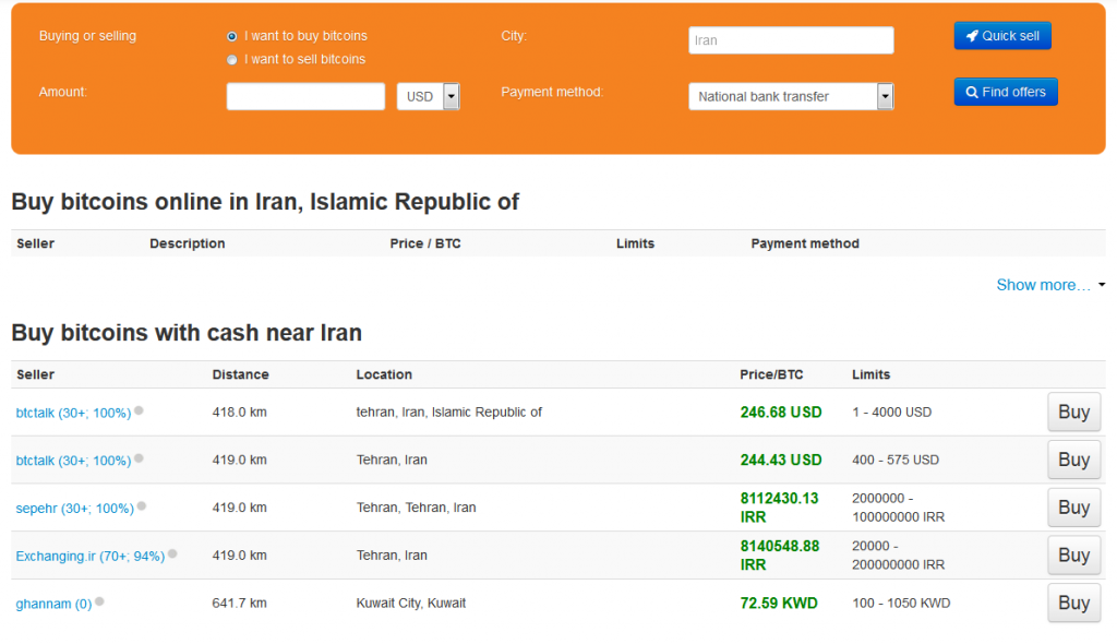 how to Buy bitcoins online in Iran